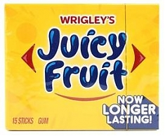 Жвачка Wrigley`s Juicy Fruit 15 пластинок