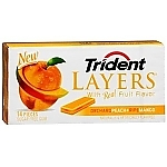 Жвачка TRIDENT LAYERS Orchard Peach+Ripe Mango
